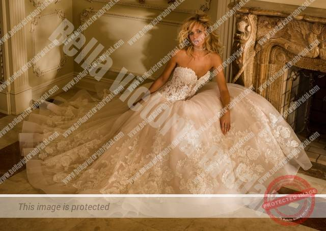 Bella Victoria Bridal Gown 4345 Front